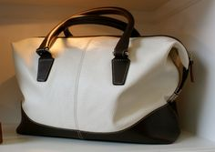Classic black and white purse at Circle & Square - SF
