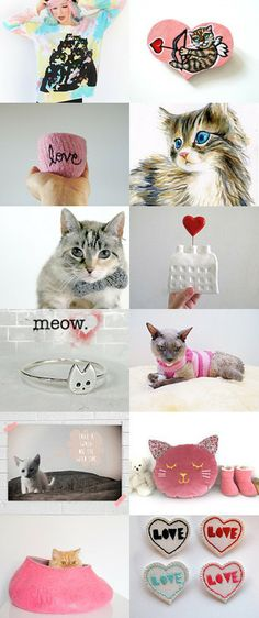 it's okay if your Valentine is a cat - an Etsy treasury - Pinned with TreasuryPin.com