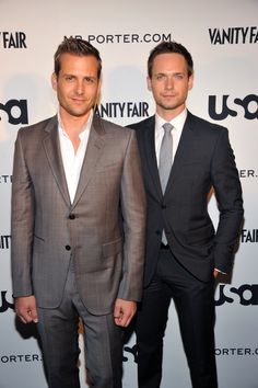 Gabriel Macht and Patrick J. Adams at 'A Suits Story' Fashion Show at the Highline in New York City on Tuesday, June 12, 2012
