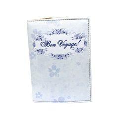 Обложка для паспорта с нежно-голубыми цветами Simple Blue