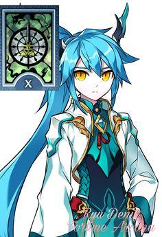 A roleta da sorte Ryu Denif - Arcana da fortuna É definitivamente a espírito mais jovem de Samantha, habilidosa e ágil fisicamente, Ryu pode fazer um grande estrago em combates, porèm é bastante frágil quando sozinha, normalmente essa é sempre invocada junto de Mary ou junto de seu irmão.