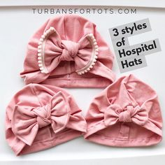 Planning your baby girl's take home outfit? Deciding which hospital hat for your daughter? Choosing outfits for your newborn photos? Or if you just want to take her outfits to the next level...our handmade hats will do that!