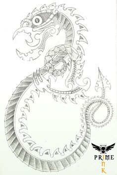 Concept artwork for a Taniwha Tattoo. Any constructive comments appreciated. Thanks Taniwha