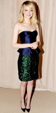 Look of the Day: November 14, 2012 - Emma Stone : InStyle.com