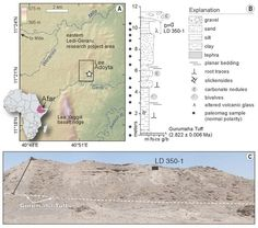 Here, the Ledi-Geraru site, including geography and geological stratification, where scientists found the Homo fossil jaw.