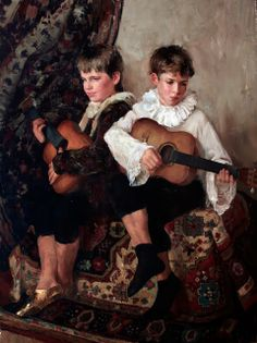 Natalya Milashevich Russian Figurative Artist, Children in Painting