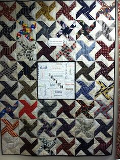 Memory Quilt made with men's ties! | Craft Ideas