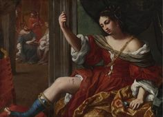 """""""Portia Wounding Her Thigh"""" by Elisabetta Sirani via DailyArt app, your daily dose of art getdailyart.com"""