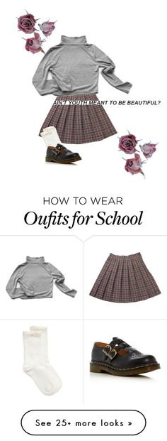 """beautiful youth"" by nymphet-dream on Polyvore featuring My Mum Made It, Hue and Dr. Martens"