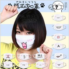 $2.31, 1pc Free shopping New Fashion Cute Anime Cartoon Mouth Muffle Face Mask,Boy Girl FACE Mouth Gauze Mask Healthy Dust Masks White-in Masks from Health & Beauty on Aliexpress.com | Alibaba Group
