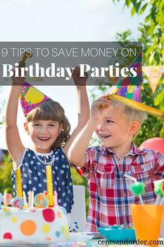 Save money on children's birthday parties with these tips. Frugal ideas to have a fun party when you are on a tight budget.