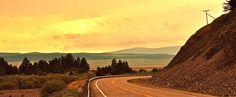 Horizon Landscape-Paisaje horizonte Monument Valley, Country Roads, Watercolor, Mountains, Landscape, Nature, Travel, Art, Sunrises