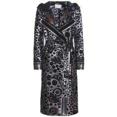 Peter Pilotto Metallic Coat (€2.975) ❤ liked on Polyvore featuring outerwear, coats, blue, blue coat, peter pilotto and metallic coat