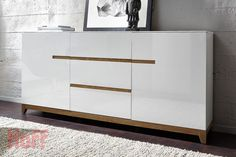 Buffets bahuts design noir et blanc Shoe Cabinet Design, Living Room Plan, Italian Dining, Rack, Condo Living, Home Decor Furniture, White Wood, Wall Decor, Storage