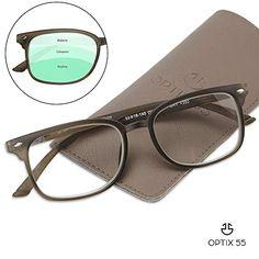 f77403c6114f Progressive Reading Glasses - Bonus Pouch - No Line Gradual Multifocal  Lenses, 3 Magnification Strengths