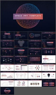Cool sense of science and technology universe PowerPoint template Powerpoint Design Templates, Presentation Design Template, Powerpoint Template Free, Presentation Layout, Creative Powerpoint, Keynote Template, Page Layout Design, Web Design, Slide Design