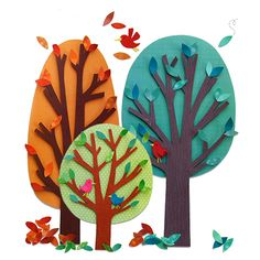 Collage Trees / Arbres en papier | DeSerres