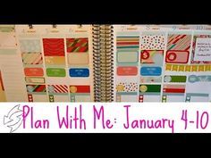 Plan with me: January 4-10 in my Erin Condren Life Planner. Using Libbieandco and Scribbleprintco kits.