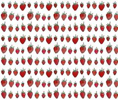strawberries fabric by katherinecodega on Spoonflower - custom fabric