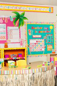 Tropical Punch by Teacher Created Resources Daycare Themes, Classroom Decor Themes, Classroom Walls, Classroom Setting, Science Classroom, Kindergarten Classroom, Classroom Ideas, Classroom Borders, Teacher Created Resources