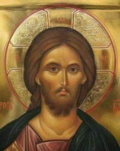 Jesus - Icons by Malin Dimov Religious Images, Religious Icons, Religious Art, Byzantine Icons, Byzantine Art, Christ Pantocrator, Greek Icons, Religion, Russian Icons