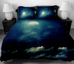 Galaxy bedding set cloud and moon bedding set galaxy by CBedroom