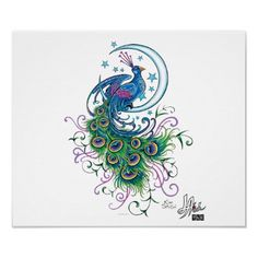 peacock tattoos meaning | Peacock Tattoo Poster From Zazzlecom wallpaper