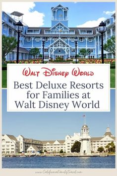 Disney's Deluxe Resorts at Walt Disney World offer convenience and amenities you won't find anywhere else! Here is a detailed rundown of the top five Disney Deluxe Resort hotels for families. #waltdisneyworld Disney Resort Hotels, Disney World Hotels, Walt Disney World Vacations, Disney Trips, Hotels And Resorts, Disney Travel, Disney World Guide, Disney World Secrets, Disney World Magic Kingdom