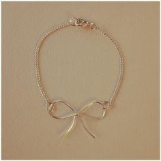 diy wire bow bracelet