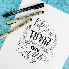 Hand lettering drawings bullet journal Hand lettering shared by adriana medrano on We Heart It Hand Lettering Quotes, Creative Lettering, Typography Quotes, Brush Lettering, Lettering Design, Fonts Quotes, Typography Inspiration, Art Quotes, Calligraphy Doodles