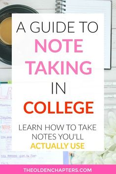 Learn how to master college note taking with these amazing tips and ideas! Includes a complete organization system, inspiration for taking pretty notes, the best note taking products, study schedules, how to add textbook notes, and how to use your notes to study for finals. This system is a great way to begin organizing your notes for more efficient studying and to better your GPA. Read now to begin creating better study skills. #college #collegetips #study #studyspo #studygram...