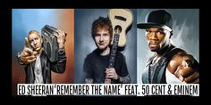 New collaboration of Ed Sheeran featuring Eminem and 50 Cent . 50 Cent And Eminem, Eminem Videos, Remember The Name, Rap God, Slim Shady, Awesome Quotes, Ed Sheeran, Music Songs, Hiphop