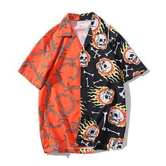 Casual Tops, Casual Shirts, Mens Beach Shirts, Chemise Fashion, Style Japonais, Cooler Look, Loose Shirts, Mode Streetwear, Free Clothes