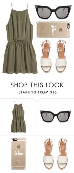 """""""Untitled #529"""" by andrea-moen ❤ liked on Polyvore featuring H&M, Fendi and Casetify"""