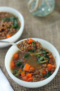 Lentil Soup.  A part of every fall, winter and Lent.  Few soups as delicious as this.