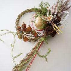 お正月しめ縄リース・縦(お正月飾り)