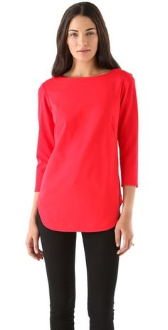 Tibi Ponte Tunic Top. Want a tunic like this to wear with leggings