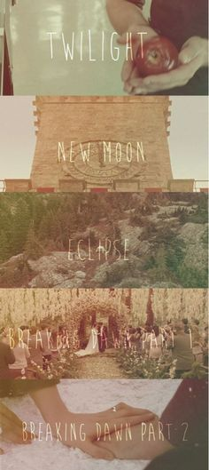 Twilight  New Moon Eclipse Breaking Dawn part 1 Breaking Dawn part 2  The Twilight Saga ♥♥♥