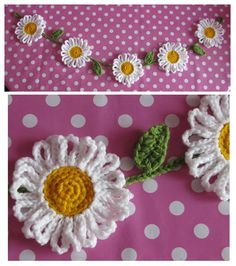 chunky crochet daisy chain bunting! available to buy from World of BLink