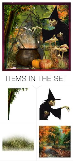 """Happy Halloween to all Potion makers and Polypals"" by lynjane ❤ liked on Polyvore featuring art"