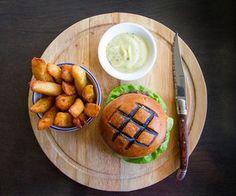 Delicious burger plate