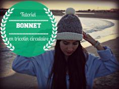Bonnet en point de riz avec tricotin circulaire/rond