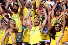 Some extreme tennis fans at the Australian Open 2015
