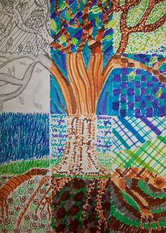 Patchwork Tree by mydarkenedeyes on tumblr.com Recently, I have been making an attempt to use some of the ideas that are gathering o...