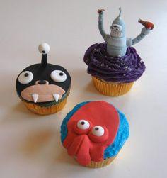 Futurama Cupcakes from Unicorn Magic Baking Co. (http://www.facebook.com/pages/Unicorn-Magic-Baking-Company/135665249490)