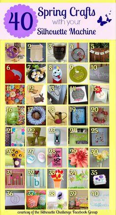 40 Spring Crafts with your Silhouette Machine via thinkingcloset.com