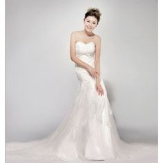 Sweetheart Trumpet / Mermaid fashionable bridal gown