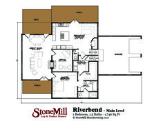 Riverbend Log Floor Plan | StoneMill Log & Timber Homes