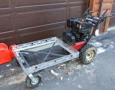Homemade Power Wagon built from a snowblower!