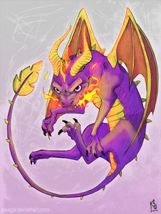 Spyro the Dragon by Saagai.deviantart.com on @deviantART